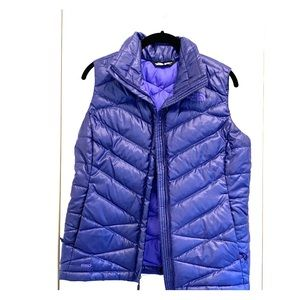 The North Face Puffer Vest Purple Size S/P